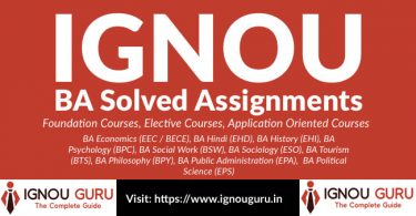 IGNOU BA Solved Assignments free (BDP Solved assignments IGNOU)