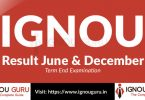 IGNOU Result June 2018