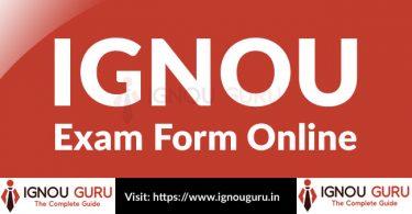 IGNOU Exam Form Online