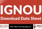 IGNOU Date Sheet