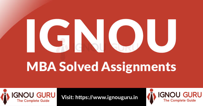 IGNOU MBA Solved Assignments