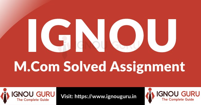 IGNOU M.Com Solved assignment