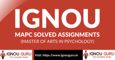 IGNOU MA Psychology Solved Assignment