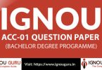 IGNOU ACC 1 Question Paper