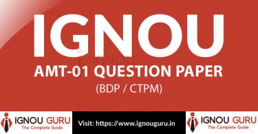 IGNOU AMT 1 Question Paper