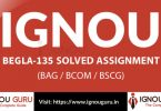 IGNOU BEGLA 135 solved assignment
