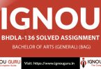 IGNOU BHDLA 136 Solved Assignment